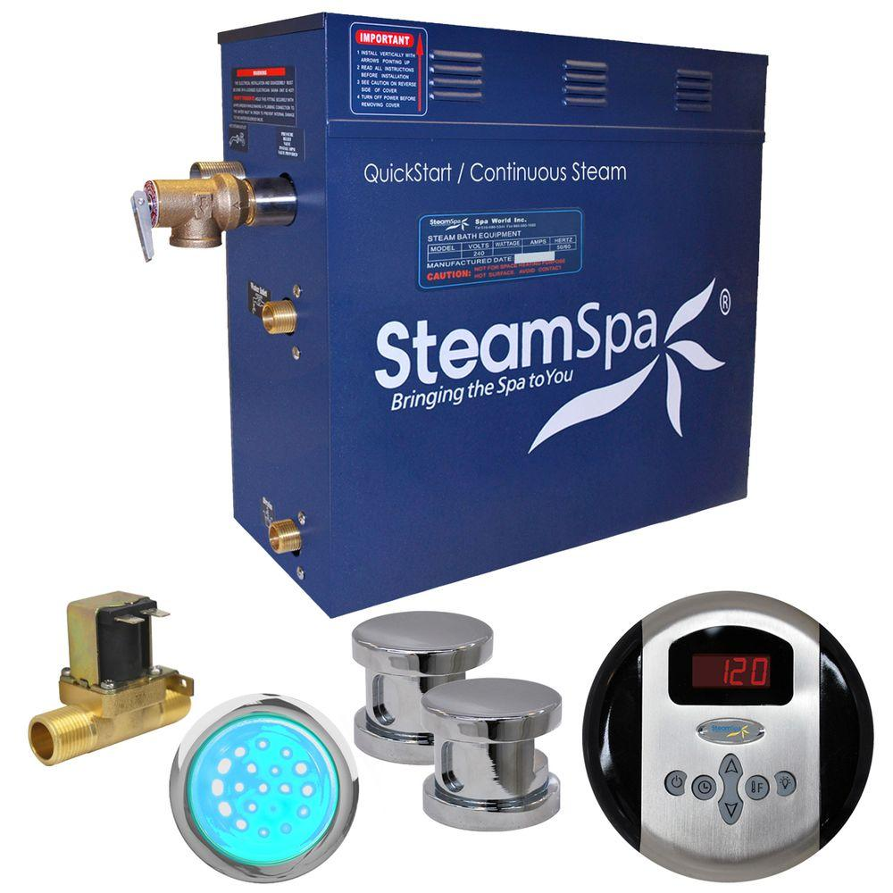 Indulgence 10.5kW QuickStart Steam Bath Generator Package with Built-In Auto