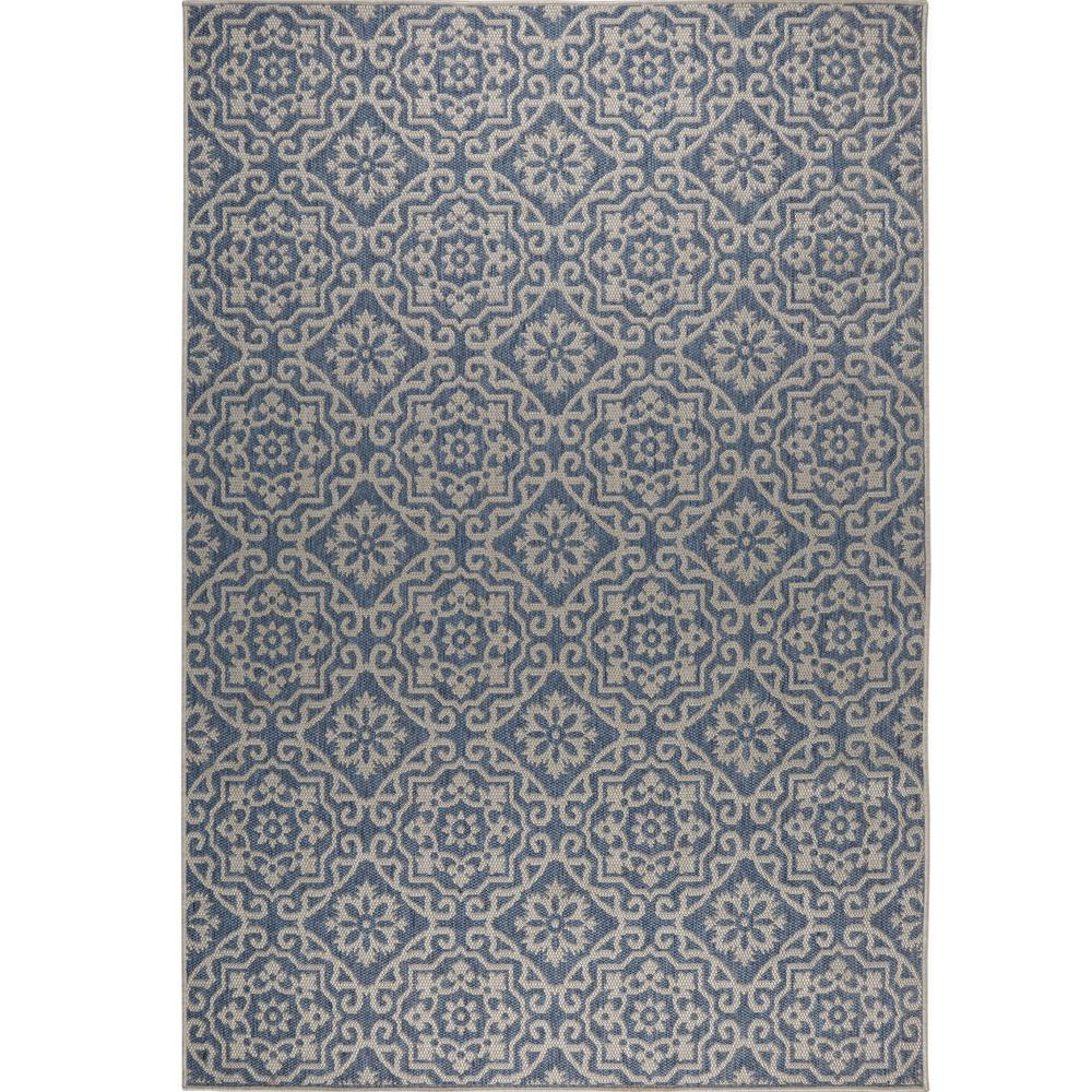Nicole Miller Patio Country Blue Gray 7 Ft 9 In X 10 Ft 2 In
