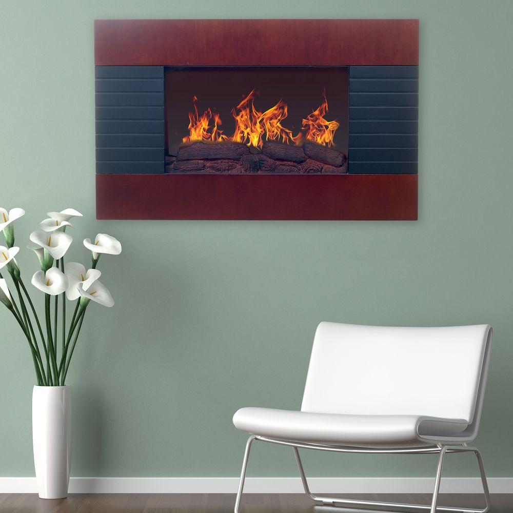 Northwest 35 In Electric Fireplace With Wall Mount And
