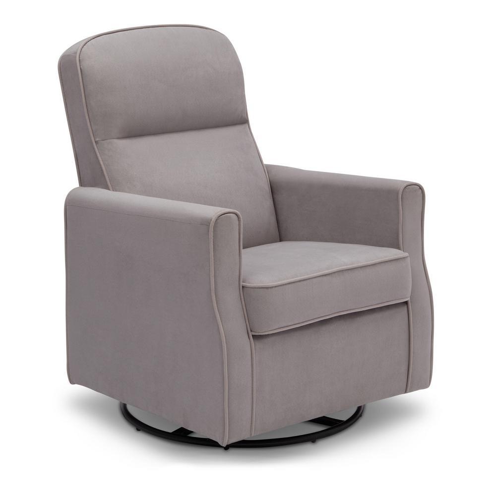 Delta Children Grey Clair Glider Swivel Rocker Chair Dove