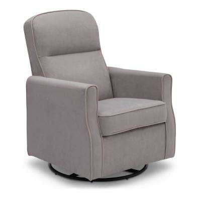 Dove Grey Clair Glider Swivel Rocker Chair