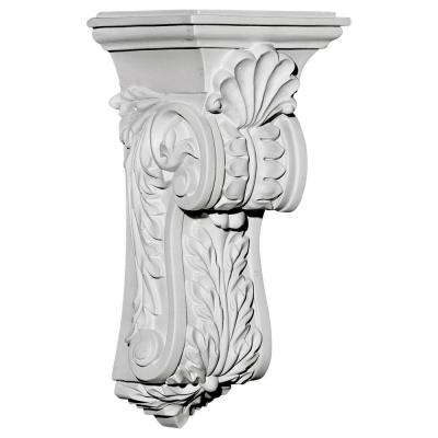 4-5/8 in. x 5-1/4 in. x 10-3/4 in. Polyurethane Scroll Leaf Corbel