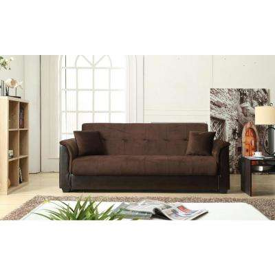 champion futon chocolate sofa bed with storage brown   futons  u0026 sofa beds   living room furniture   the home depot  rh   homedepot