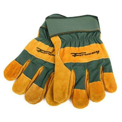 Lined Premium Cowhide Leather Palm Gloves (Men's L)