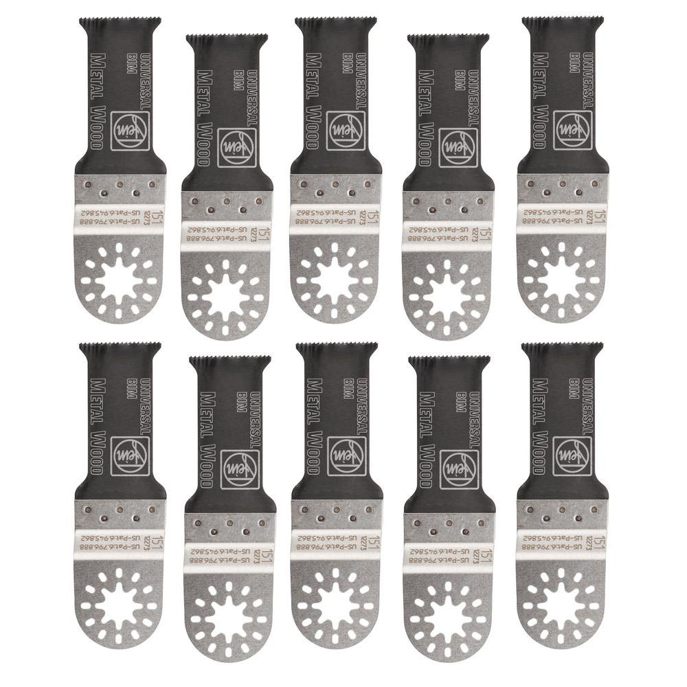 FEIN 1-1/8 in. Multi-Mount E-Cut Saw Blade for Oscillating Tool (10-Pack)
