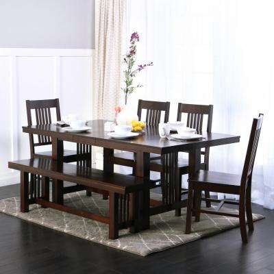 Meridian 6 Piece Cappuccino Dining Set · Walker Edison Furniture ... Part 88