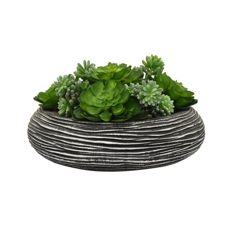 Faux Succulents Pot