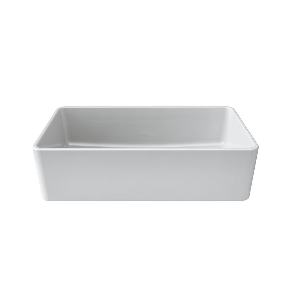 Amazing LaToscana Reversible Farmhouse/Apron Front Fireclay 36 In. Single Bowl  Kitchen Sink In