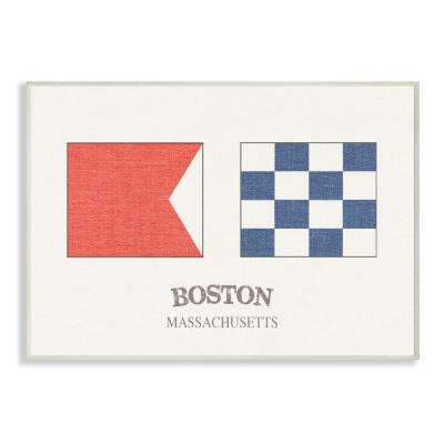 Stupell Industries 10 In X 15 In Boston Nautical Flags By Daphne Polselli Printed Wood Wall Art Cw 1269 Wd 10x15 The Home Depot