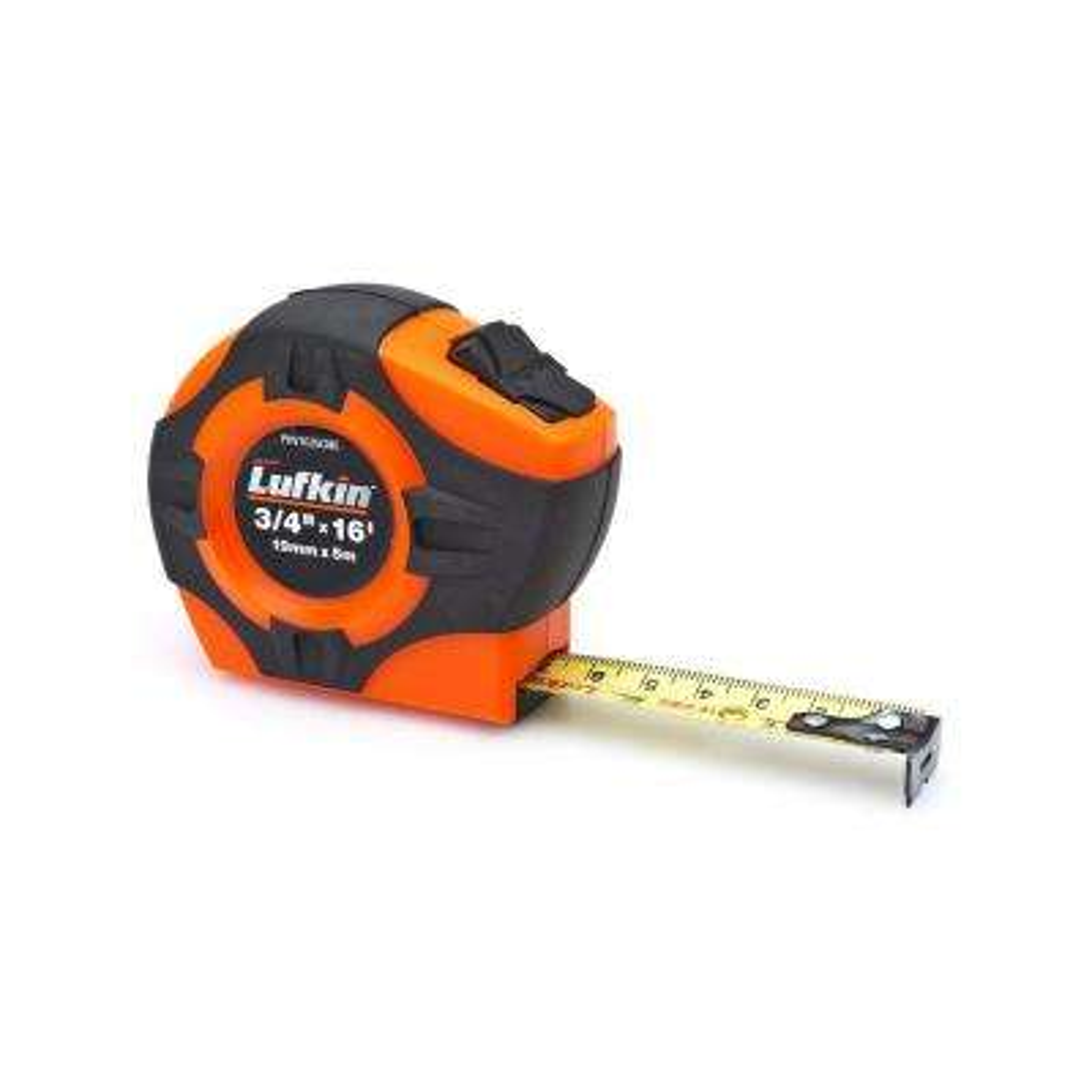 P1000 Series 3/4 in. x 5m/16 ft. Hi-Viz Orange SAE/Metric Yellow Clad A30 Blade Power Return Tape Measure