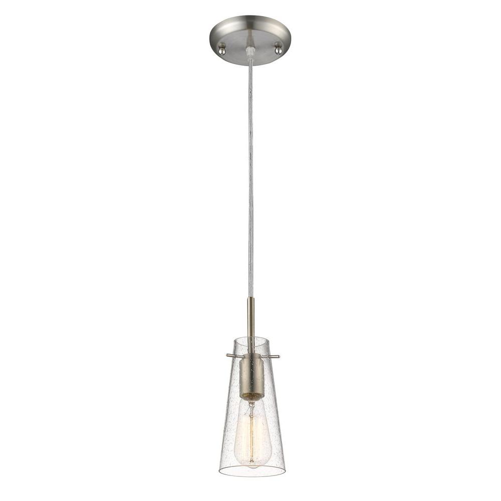 Filament Design Mayne 1-Light Brushed Nickel Mini-Pendant