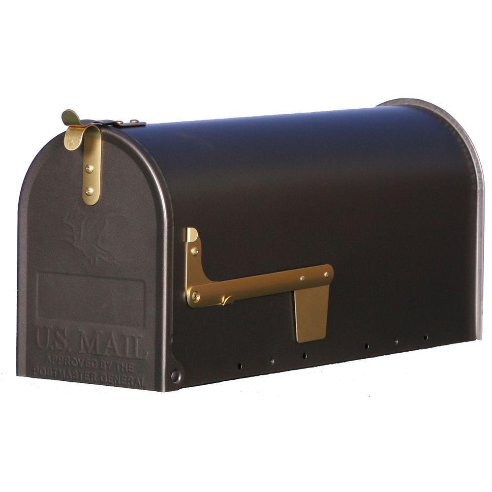 Madison Steel Post-Mount Mailbox, Venetian Bronze