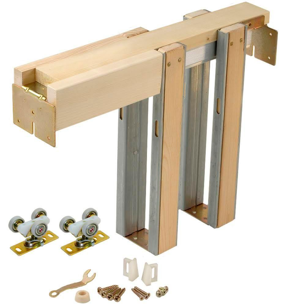 Johnson hardware 1500 series pocket door frame for doors for Wooden back door and frame