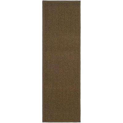 Natural Fiber Brown 3 ft. x 12 ft. Runner Rug