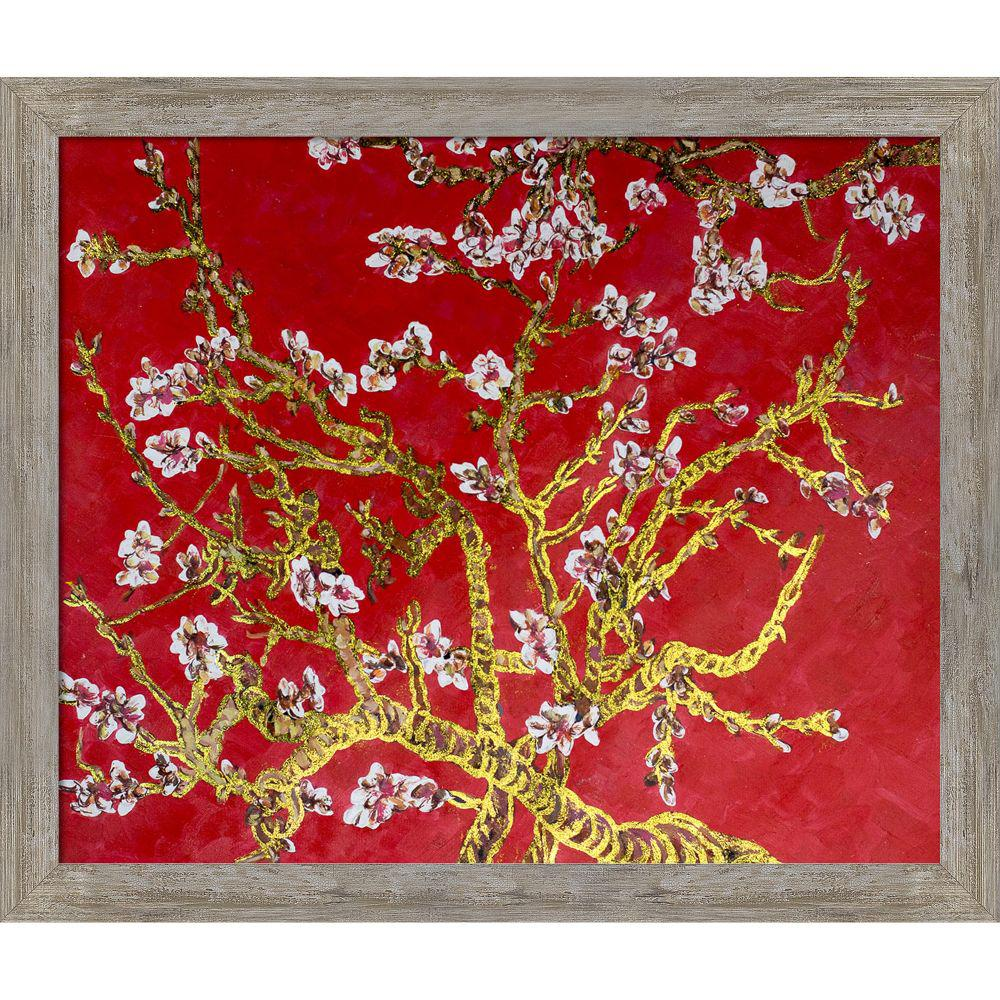LA PASTICHE Branches of an Almond Tree in Blossomby Originals Framed Abstract Wall Art 23.5 in. x 27.5 in., Multi-Colored was $979.0 now $465.56 (52.0% off)
