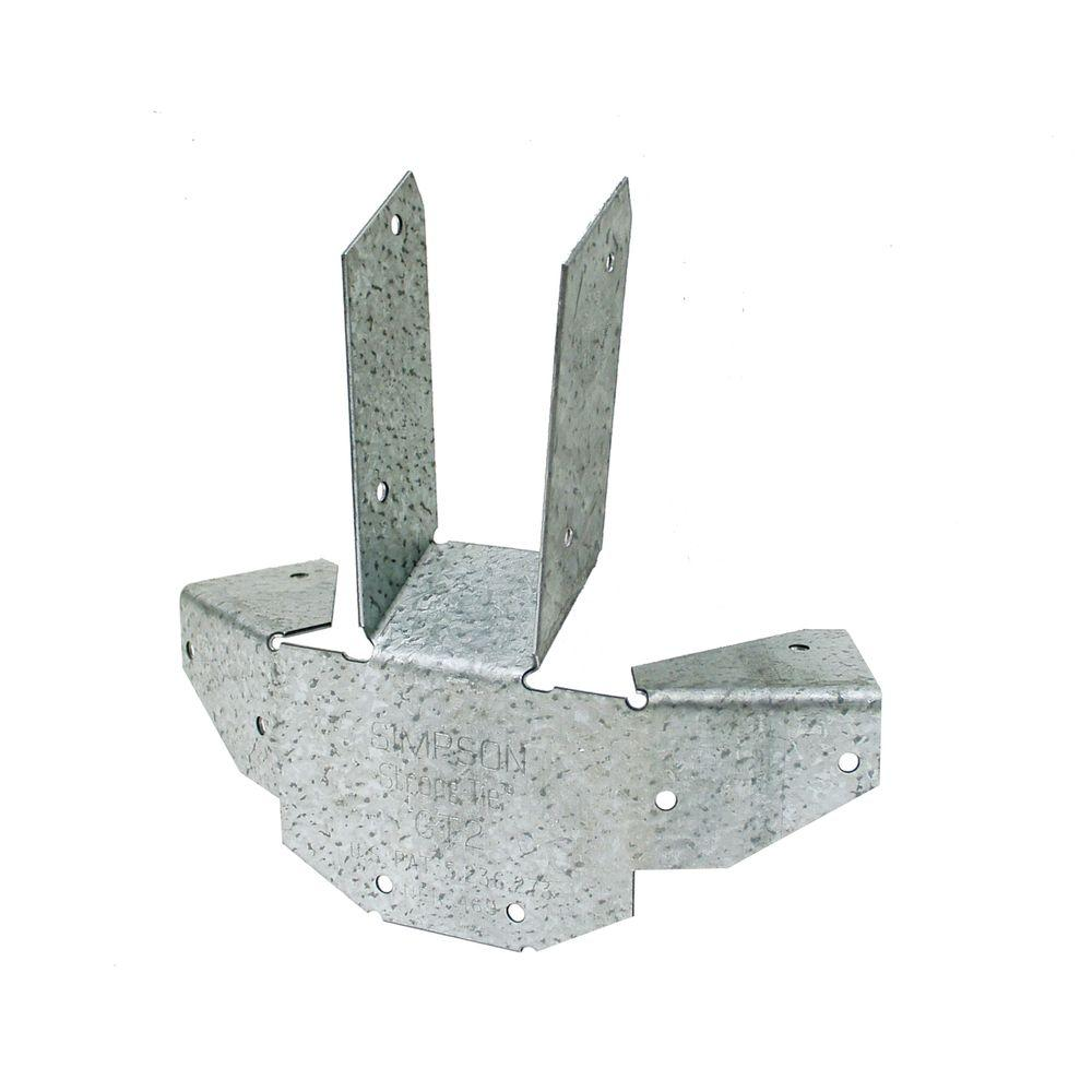Simpson Strong-Tie GT ZMAX Galvanized 16-Gauge Gazebo Tie for 6-2x Rafter to Post