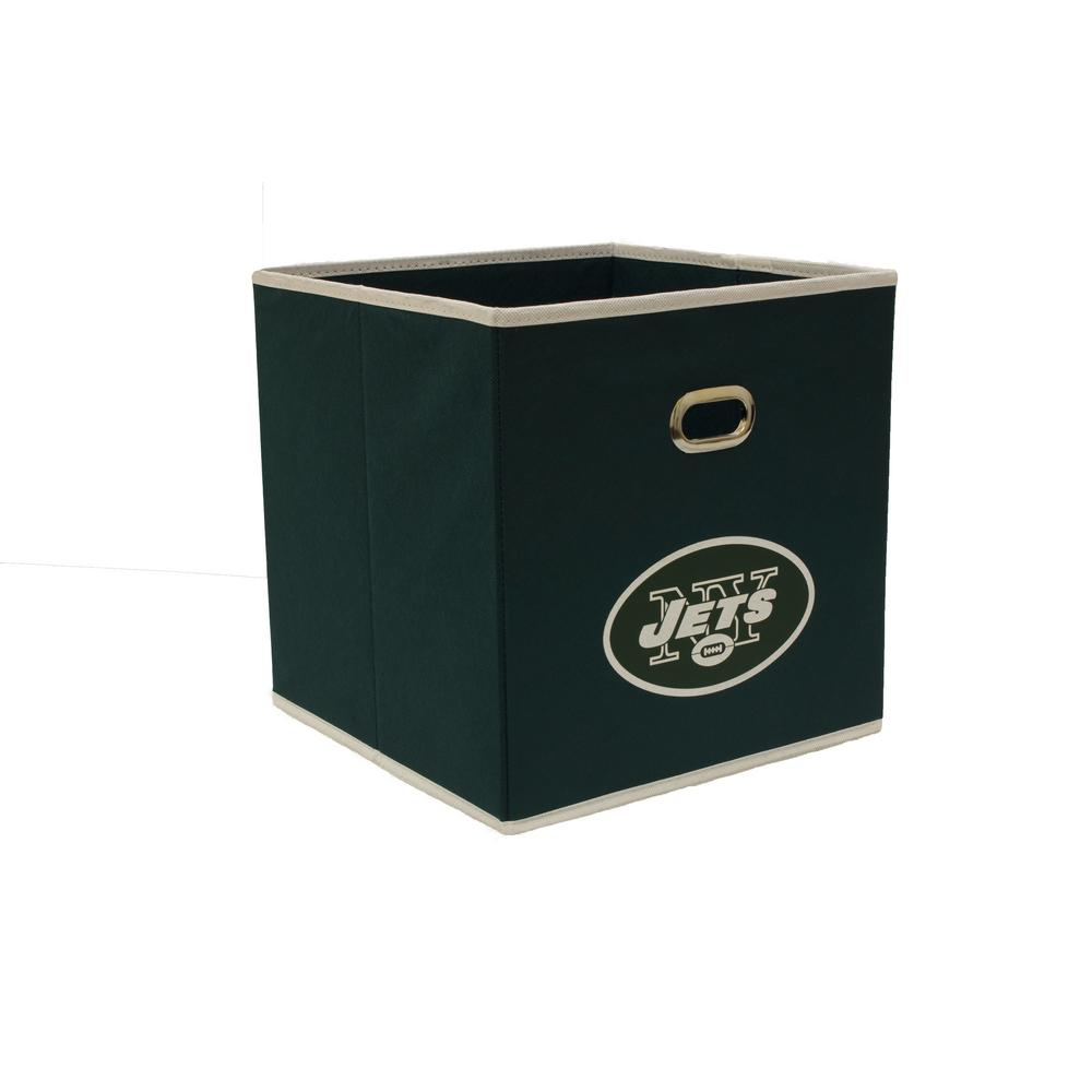 MyOwnersBox New York Jets NFL Store Its 10-1/2 in. x 10-1/2 in. x 11 in. Hunter Green Fabric Drawer
