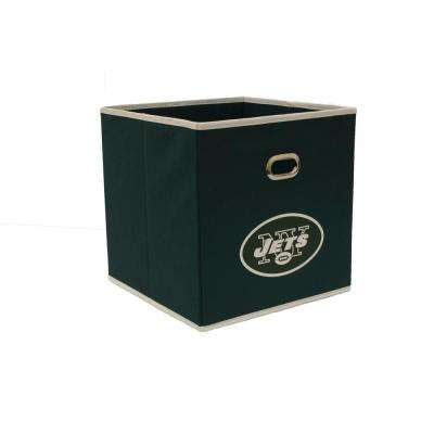 New York Jets NFL Store-Its 10-1/2 in. W x 10-1/2 in. H x 11 in. D Hunter Green Fabric Drawer