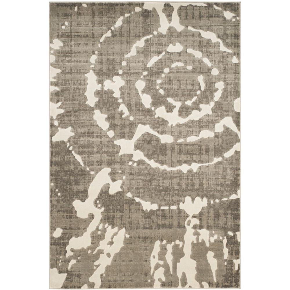 Porcello Grey/Ivory 3 ft. x 5 ft. Area Rug