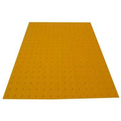 PowerBond 36 in. x 4 ft. Federal Yellow ADA Warning Detectable Tile (Peel and Stick)