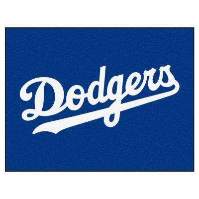 MLB Los Angeles Dodgers White 3 ft. x 4 ft. All Star Area Rug