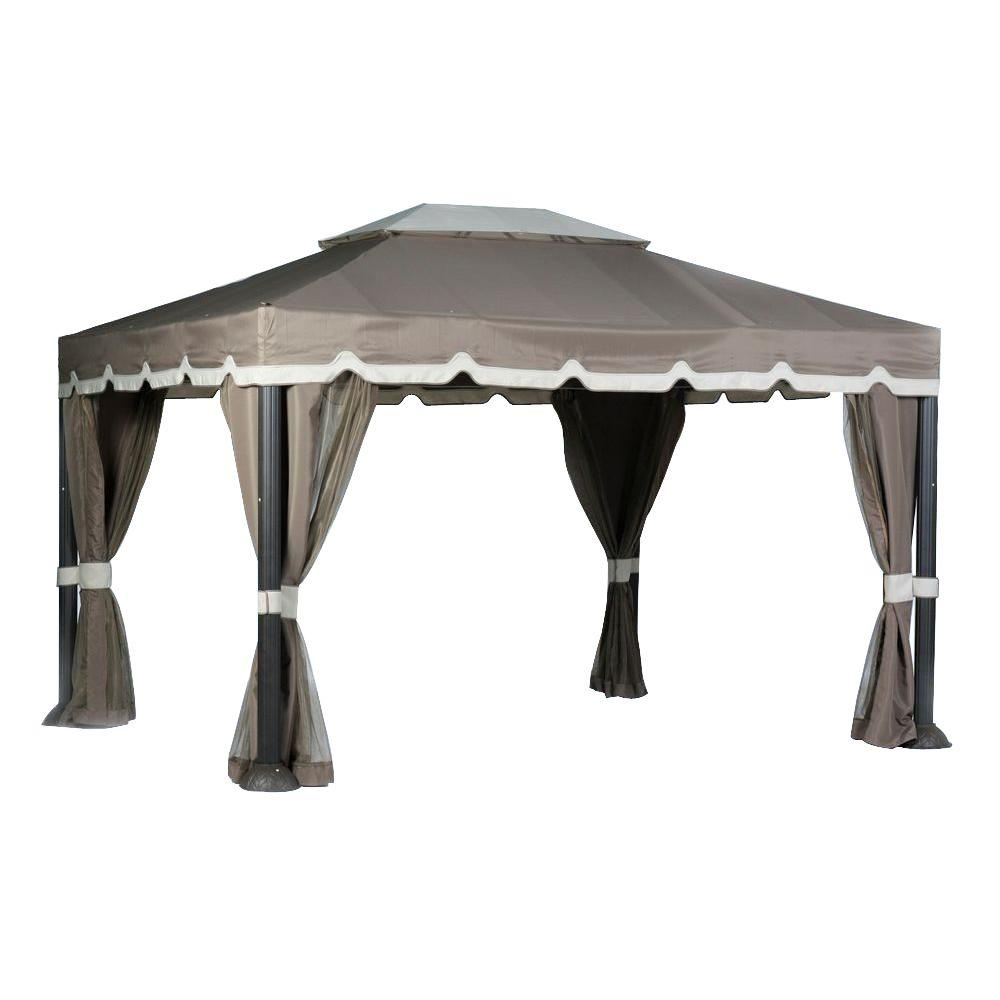 Cabin Style Garden House Replacement Canopy  sc 1 st  The Home Depot & Hampton Bay - Parts u0026 Accessories - Canopies - The Home Depot