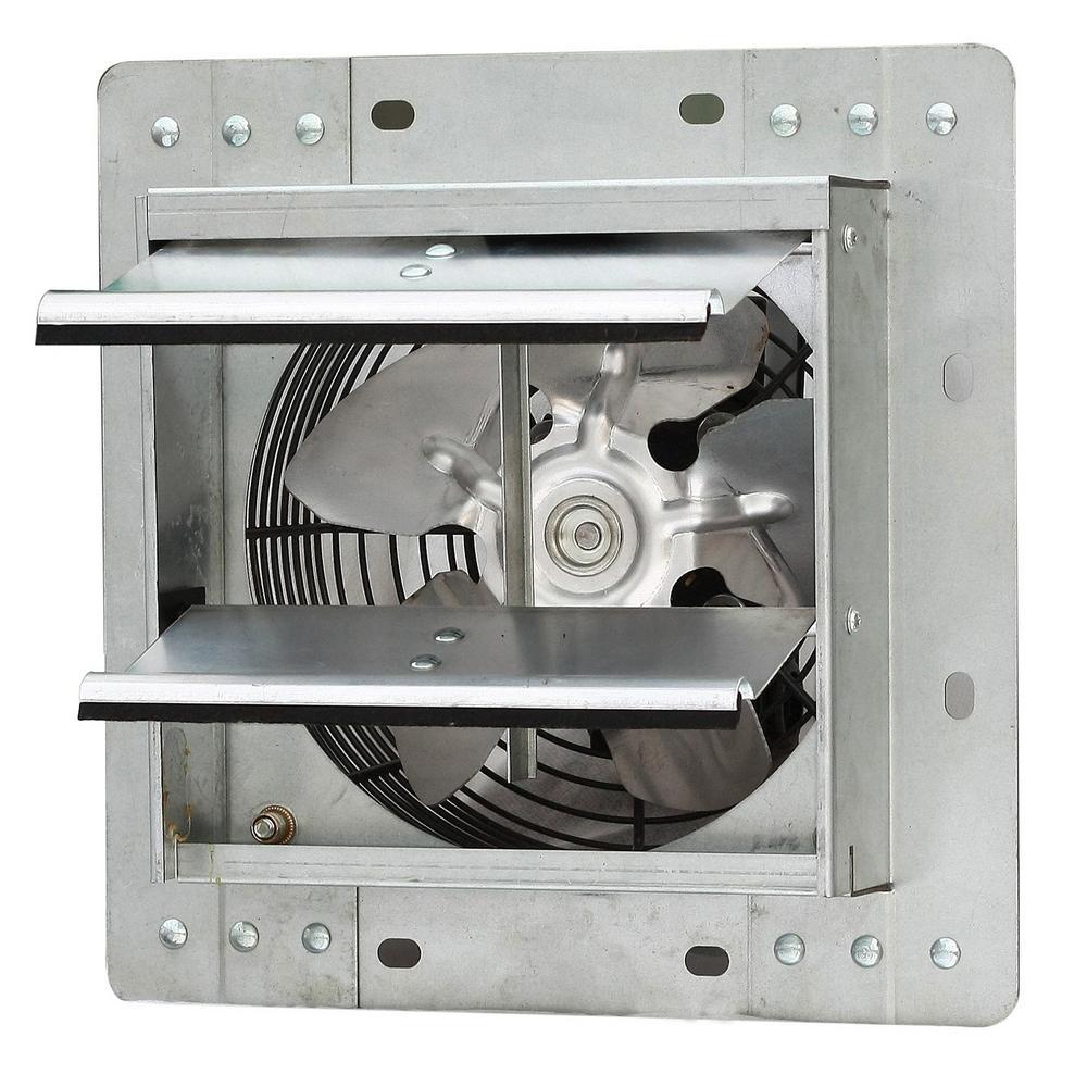 242 CFM Power 7 in. Variable Speed Shutter Exhaust Fan Crawl Space Ventilator