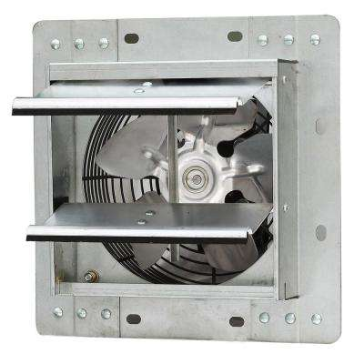 242 CFM Silver Electric Powered Gable Mount Shutter Fan/Vent