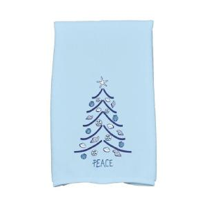 16 inch x 25 inch Light Blue Sand Tree Holiday Geometric Print Kitchen Towel by