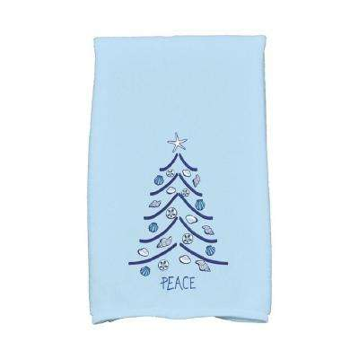 16 in. x 25 in. Light Blue Sand Tree Holiday Geometric Print Kitchen Towel