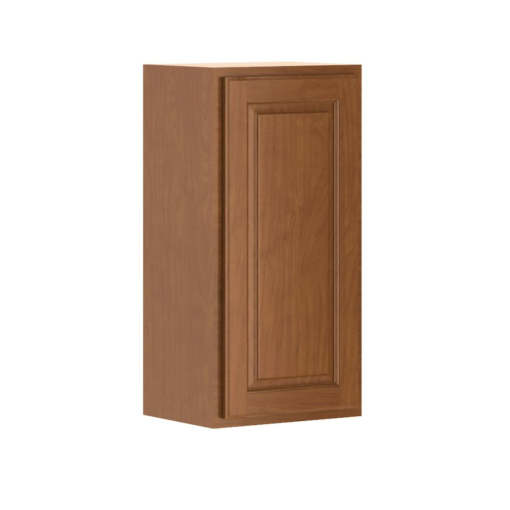 Madison Base Cabinets In Cognac: Hampton Bay Madison Assembled 15x30x12 In. Wall Cabinet In