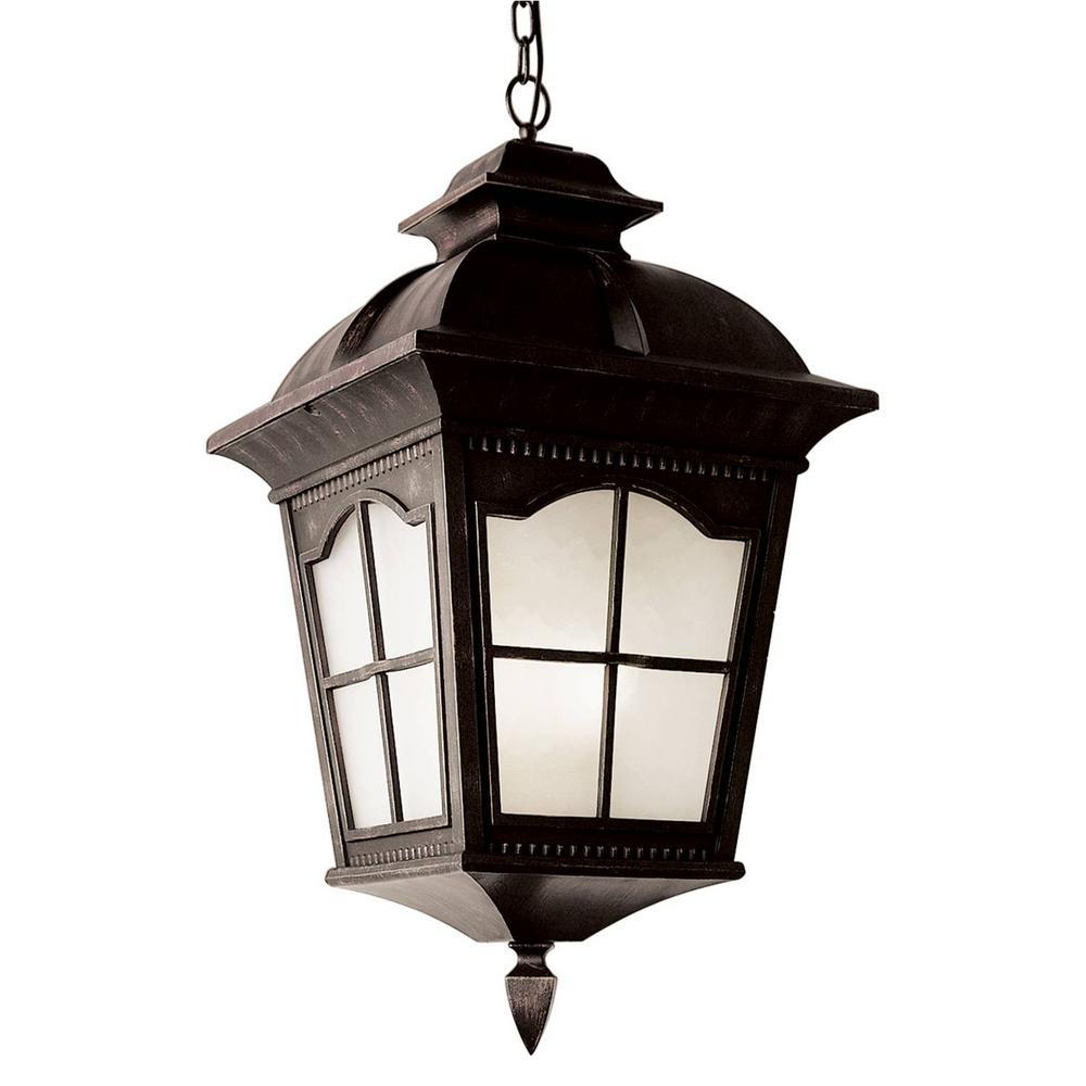 Antique Rust Outdoor Hanging Lantern