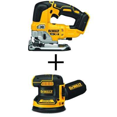 20-Volt MAX XR Li-Ion Cordless Brushless Jigsaw (Tool-Only) with Bonus Brushless 5 in. Random Orbital Sander (Tool-Only)