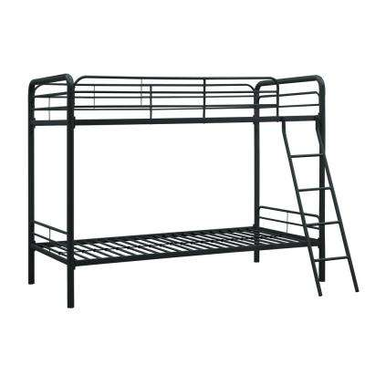 Elen Black Twin Metal Bunk Bed