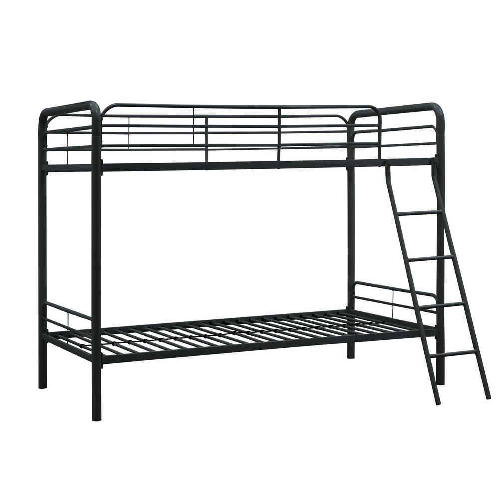 Elen Black Twin Metal Bunk Bed