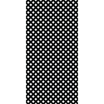 4 ft. x 8 ft. Black Privacy Vinyl Lattice (2 -Pack)