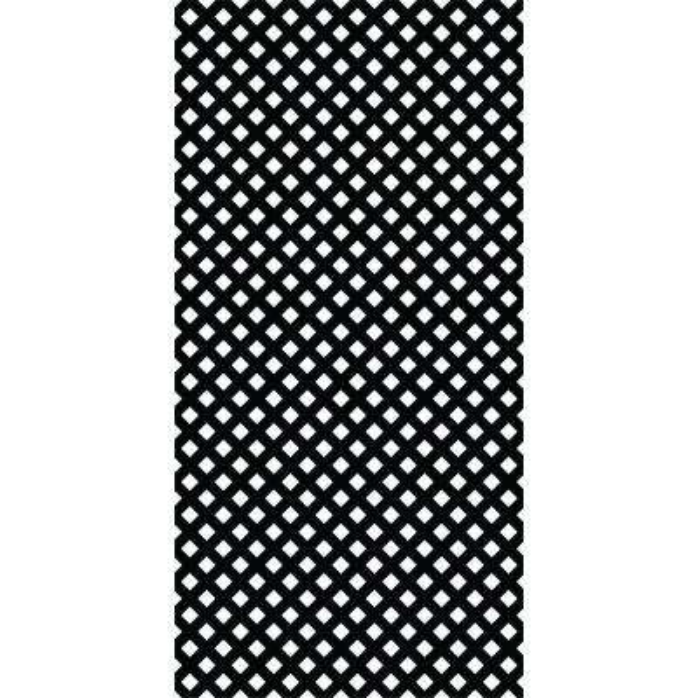 4 ft. x 8 ft. Black Privacy Vinyl Lattice (2 -Pack)