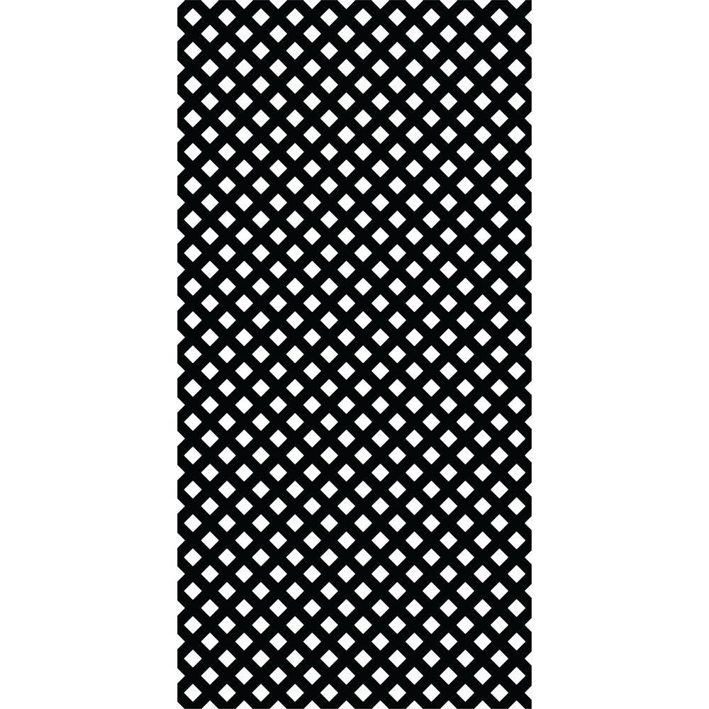 Gridworx 4 ft. x 8 ft. Black Privacy Vinyl Lattice (2 -Pack)