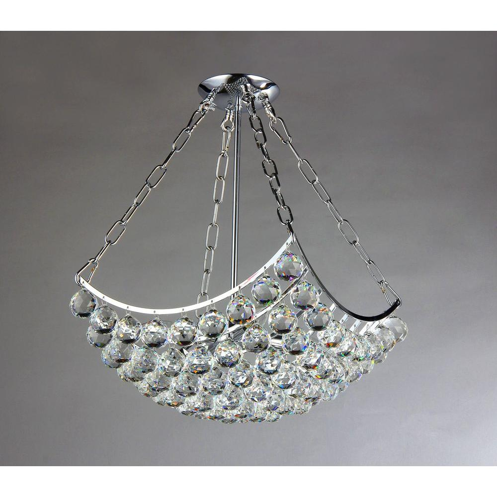 Blathnat 4-Light Crystal Chrome Chandelier