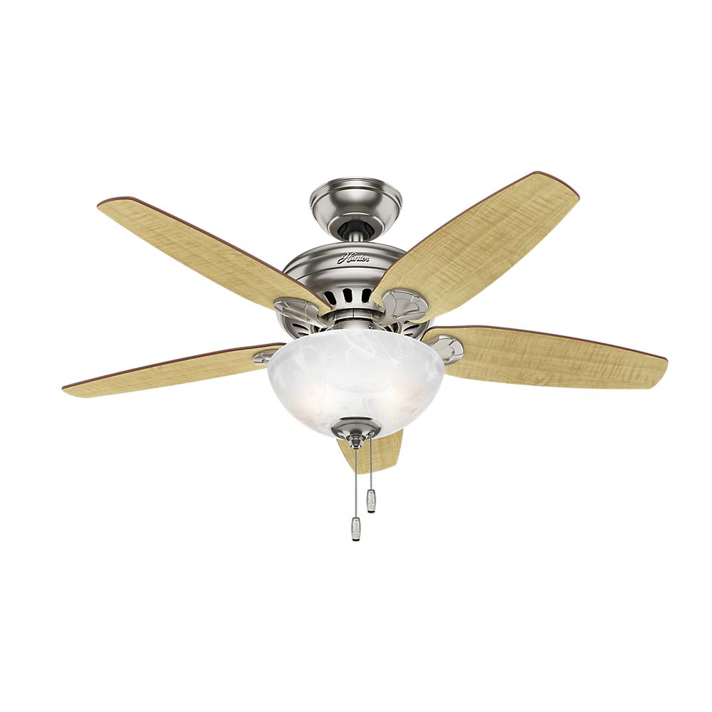 Hunter Ashbrook 48 Brushed Cocoa Ceiling Fan With Light: Hunter Ceiling Fan Light Kit Installation