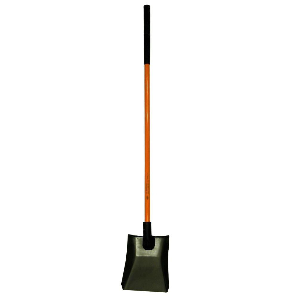 48 in. Certified Non-Conductive Square Point Shovel with Fiberglass Handle