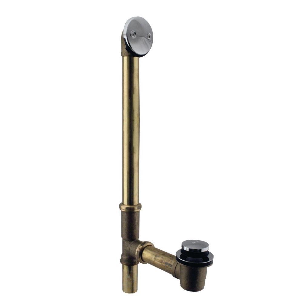 Westbrass 10 in. 17 Gauge Brass Tip-Toe Drain