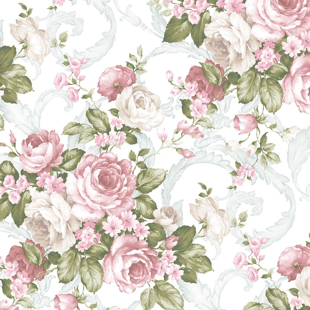 Turquoise Floral Wallpaper Compare Prices At Nextag
