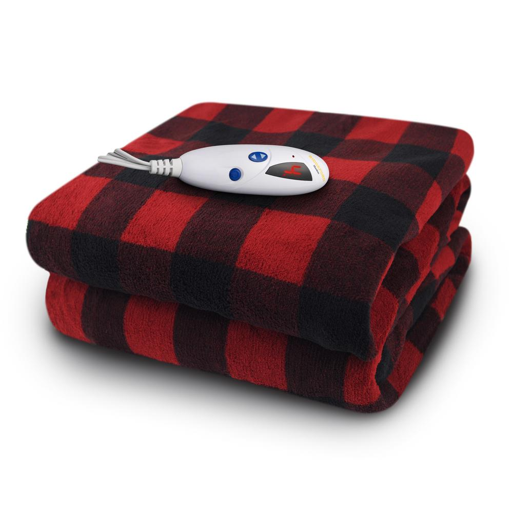 Biddeford Blankets 4460 Series Redblack And Buffalo Plaid In Color