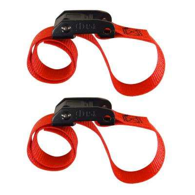 2 ft. x 1 in. Cam with Cinch Strap in Red (2-Pack)
