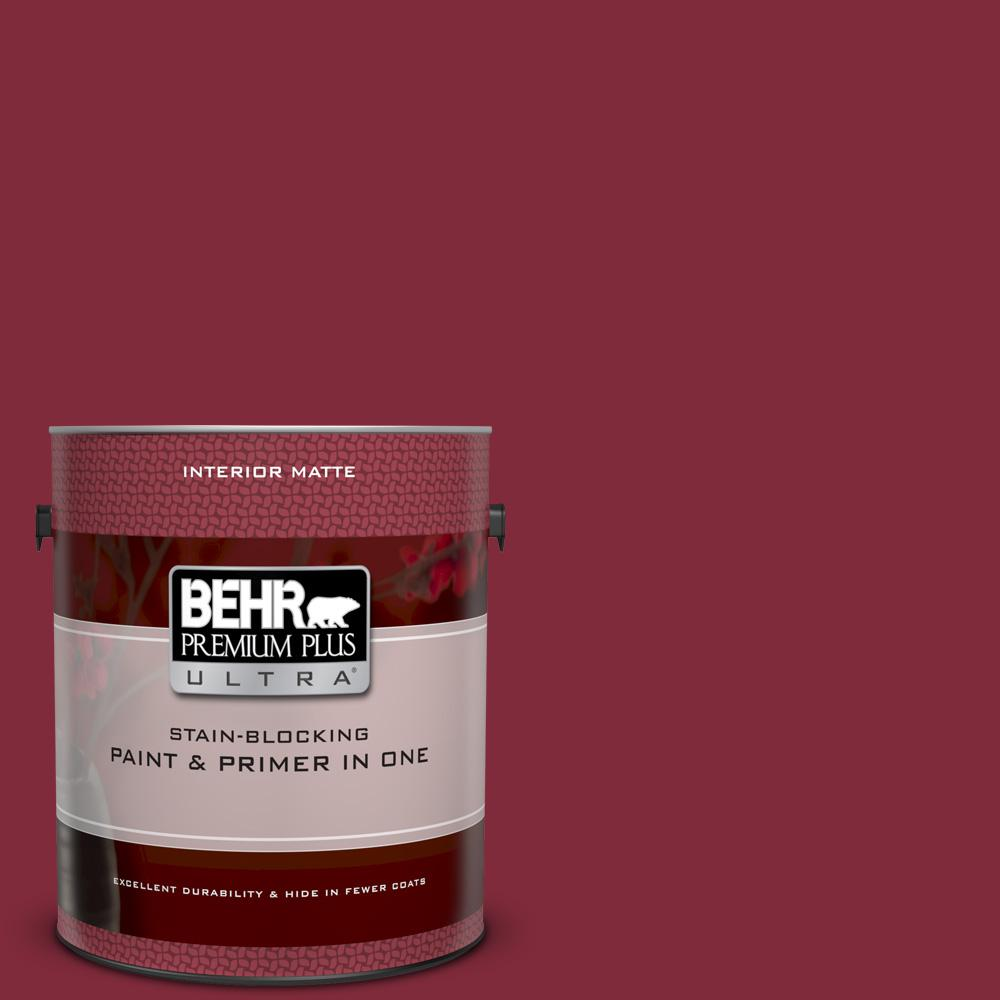 S H 130 Red Wine Matte Interior Paint And Primer In One