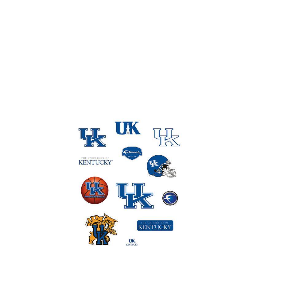 24 in. H x 39 in. W Kentucky Wildcats Team Logo Assortment Wall Mural