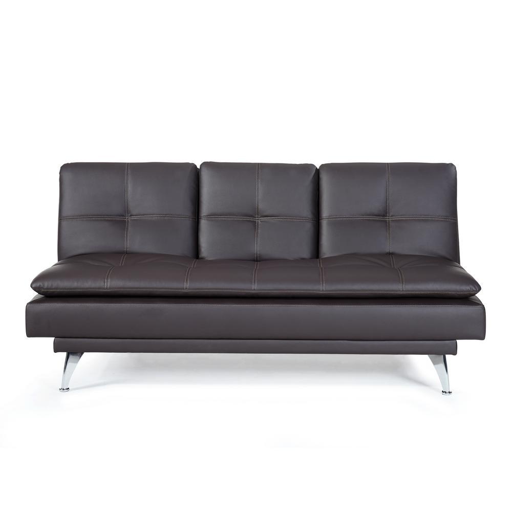 Relax A Lounger Morgan Java Convertible Sofa