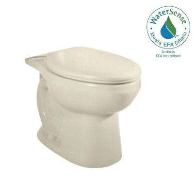 H2Option Siphonic Chair Height 1.6 GPF or 1.0 GPF Dual Flush Elongated Toilet Bowl Only in Linen