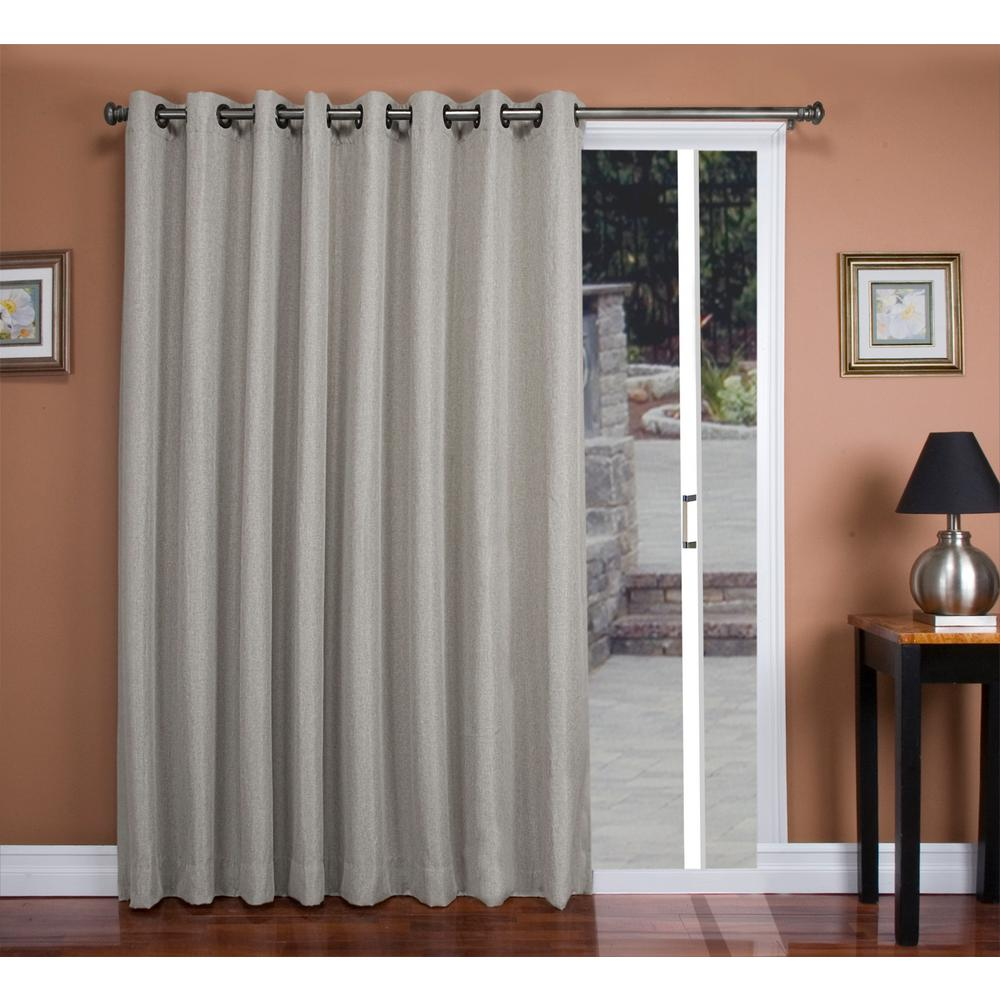 Blackout Tacoma Double Blackout Patio Panel 106 In. W X 84 In. L Gray